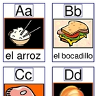 Alphabet Food Cards A-Z and Go Fish Game
