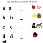 Alphabet Handwriting & Beginning Sound pre/post Assessment