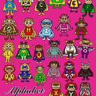 Alphabet Heroes Clip Art Collection-Commercial Use BW/Color