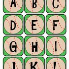 Alphabet Letter Cards - Baseball Themed
