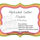 Alphabet Letter Match in D'Nealian