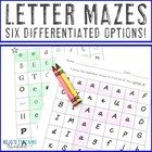 #AlphabetWeek Alphabet Letter Mazes