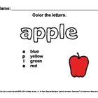 Alphabet Letter Sounds / Phonics Words Package (Color - Le