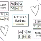 Alphabet Letters &amp; Numbers