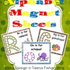 Alphabet Magnet Sheets Letter Recognition Toddler Preschool