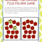 Alphabet Matching File Folder Game (Apple Theme)