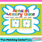 Alphabet Memory Matching Game - style 1