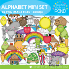 Alphabet Mini Set - Clipart for Phonics and Alphabet