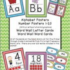 Alphabet, Number and Word Wall Posters