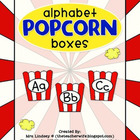 Alphabet Popcorn Boxes for Word Walls - Freebie!