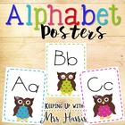 Alphabet Posters - Owls