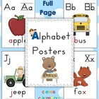 Alphabet Posters {full page} Classroom Decor - 27 pages