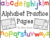 Alphabet Practice by Miss Sharp
