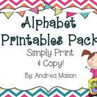 Alphabet Printables Pack {Simply Print and Copy!}