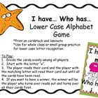 "Alphabet Recognition Practice: ""I have... Who has.."""