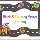 Alphabet Road Block &amp; Literacy Center Activity