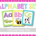 Alphabet Set {Bright Polka Dots}