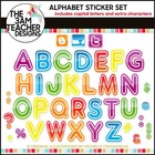 Alphabet Stickers Clip Art Collection by The 3AM Teacher