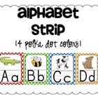 Alphabet Strip {4 polka dot colors}