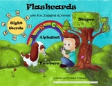 Alphabet, Word Wall Word, Number, and Shape Flashcards wit