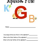 Alphabet Work Packet