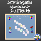 Alphabet and Alphabet Order Smartboard Activity