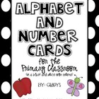 Alphabet and Number Cards for the Primary Classroom {Black