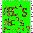 Alphabet and Symbols Cheetah Print Clipart