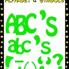 Alphabet and Punctuation Symbols Clipart - Going Green