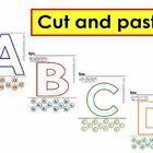 Alphabet cut and paste-Uppercase