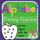 Alphabet printing book  - fill the object with letters Kin