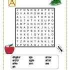 Alphabet wordsearch