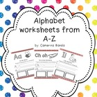 Alphabet worksheets in spanish from A-Z/ paginas del alfab
