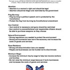 Am I a Democrat or a Republican? (Survey/Worksheet)