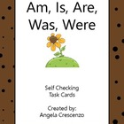 Am, Is, Are, Was, Were Verbs Task Cards