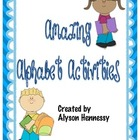 Amazing Alphabet Activities FREEBIE!!!!!