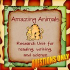 Amazing Animal Report QUESTIONS