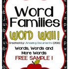Amazing Word Families (FREE) - Sample Version