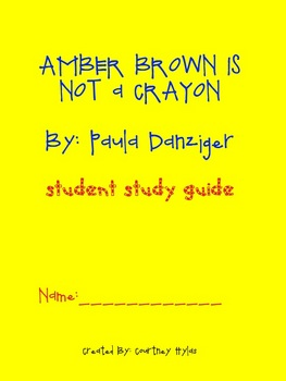 Amber Brown Is Not a Crayon Study Guide and Supplemental A