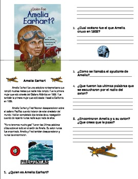 Amelia Earhart Booklet/Sheet SPANISH