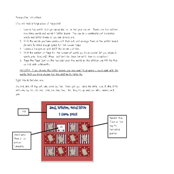 "America ""Lift the Flap"" Sight Word Interactive Literacy Center"