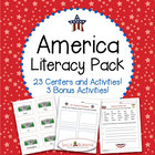 America Literacy Pack - 23 Centers and Activities for Patr