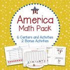 America Math Pack - 6 Centers and Activities for Patriotic