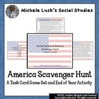 America Scavenger Hunt Game! Great end of year activity or