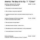 "America the Story of Us - Episode 7: ""Cities"" Viewing Guide"