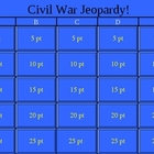 American Civil War Jeopardy!