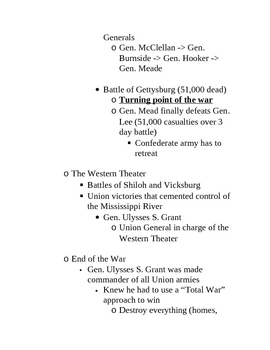 American Civil War Lecture Outline (Word doc)