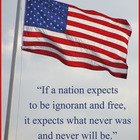 American Flag Illustrates Thomas Jefferson Quote About Ign
