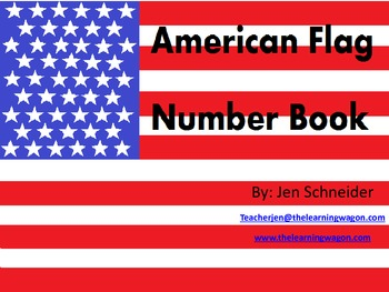 American Flag Number Book