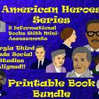 American Heroes Bundle! 9 Printable Activity Books-Georgia